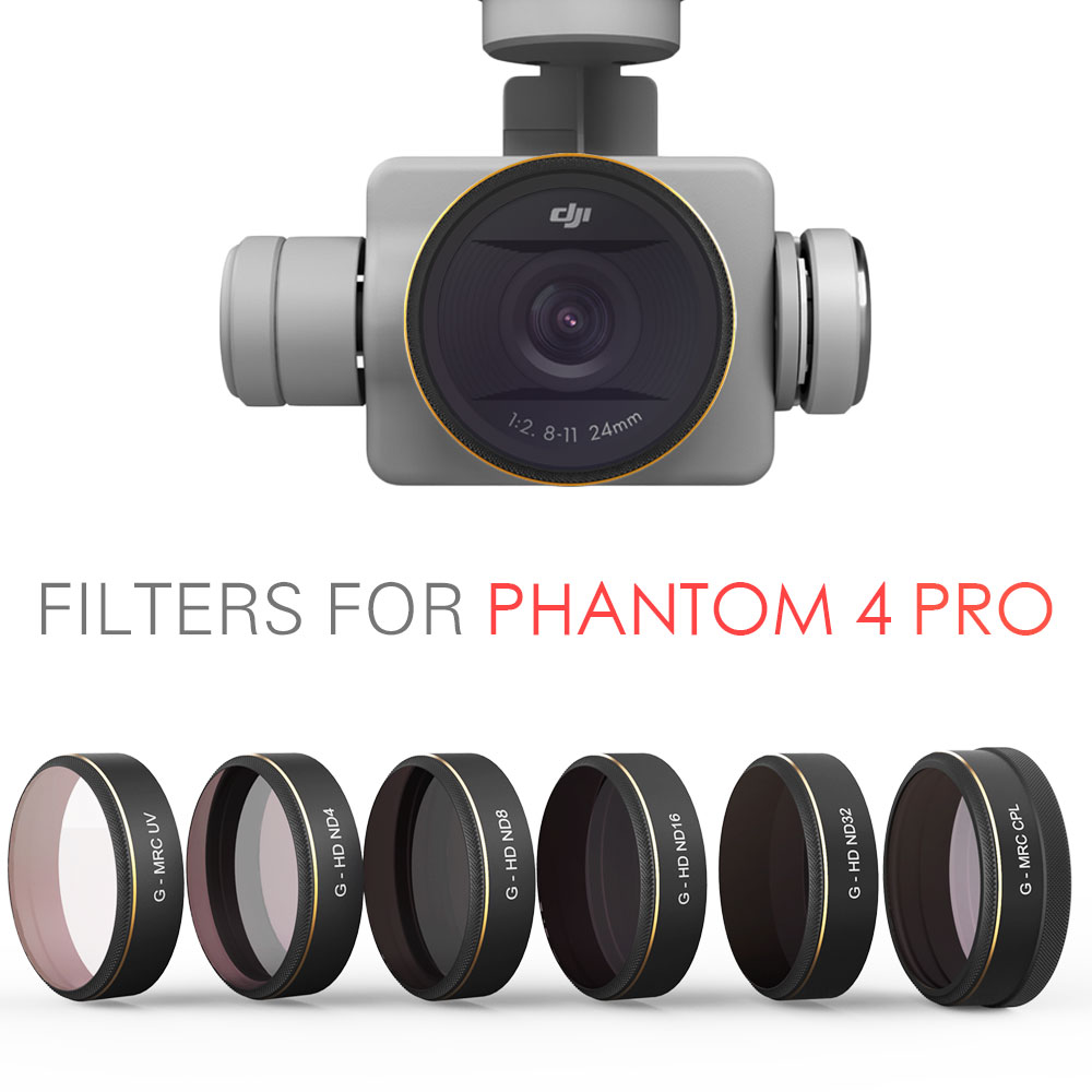 PGYTECH DJI phantom 4 Pro Accessories Lens Filters UV ND4 8 16 32 CPL Filter Drone gimbal RC Quadcopter parts чехол samsung s view для galaxy s6 белый ef cg920pwegru