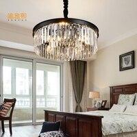 ROUND Modern LED Crystal Chandelier Lamp For Living Room Cristal Lustre