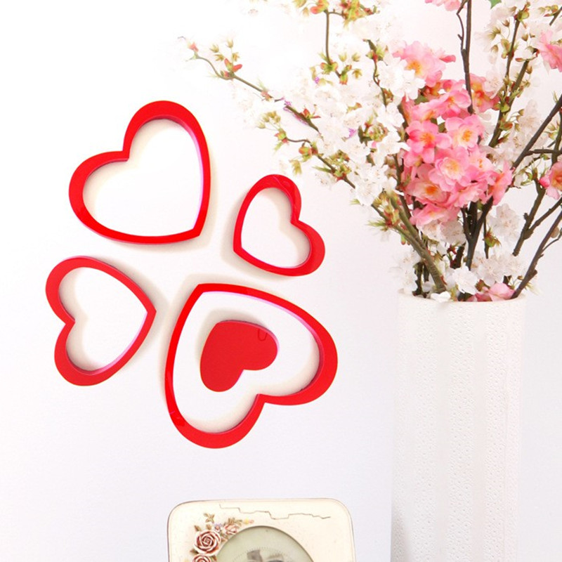 Fashion Simple Cordate Wall Stickers Bedroom Living Room Background Wall Stickers Home Decor Kids Room TV Wall Stickers Flower