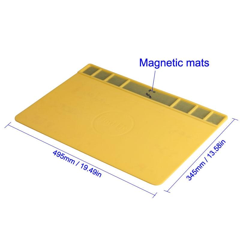 Tools : Large Size Heat-resistant Magnetic Silicone Mat Soldering Pad Insulation Pad BGA Heat Gun Maintenance Platform