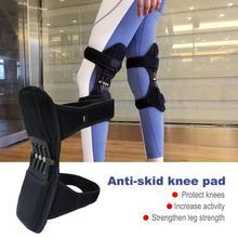 лучшая цена 1 Pair Breathable Non Slip Knee Booster Joint Knee Support Brace Kneepad Safety Guard Patella Protector Powerleg Strap for Climb