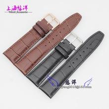 Venda de reloj de 20 mm 21 mm 22 mm negro marrón nuevo patrón del cocodrilo genuino correas de reloj correa pulseras reloj de plata hebilla