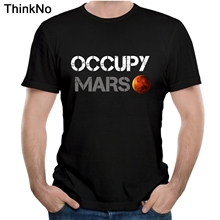 Space X T shirt Tesla Tees Casual Top design Popualr Occupy Mars 100% Cotton Tee SHIRT