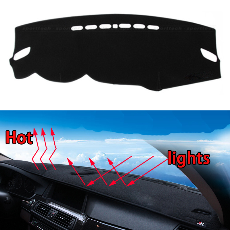 Car dashboard Avoid light pad Instrument platform desk cover Mats Carpets Auto accessories car styling for Mitsubishi outlander special car trunk mats for toyota all models corolla camry rav4 auris prius yalis avensis 2014 accessories car styling auto