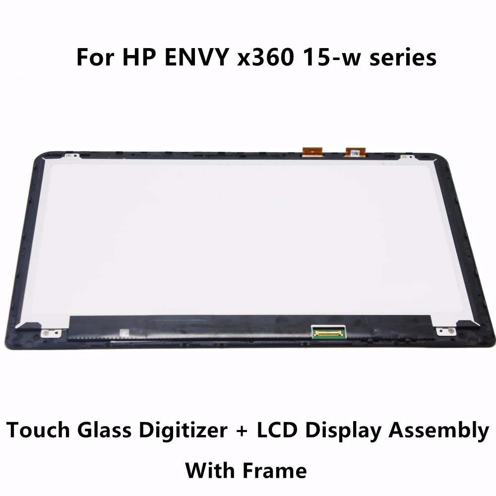 For HP ENVY x360 15-w237cl 15-w117cl 15-w110nd 15-w000ni 15-w101na 15-w102nx 15-w102na Touch Digitizer Glass LCD Screen Assembly ismaya 15 khalid