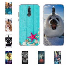 For Huawei Mate 10 Lite Maimang 6 Case Soft Silicone Honor 9i Cover Cute Cat Patterned Nova 2i G10 Capa