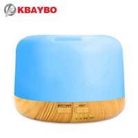 300ml Air Humidifier Aroma Lamp Aromatherapy Electric Aroma Diffuser 7 Color LED Light Wood Grain Essential