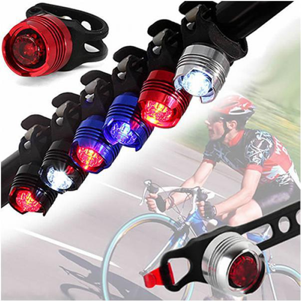 Led Bicycle Bike Cycling Front Rear Tail Helmet Safety Flash Light Warning Lamp