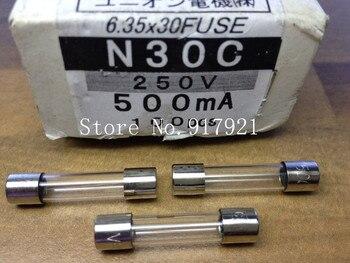 [ZOB] Japan's N30C 500MA 250V FUSE import insurance tube fuse 6X30 UEC  --200pcs/lot