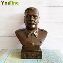 Bronze celebrity statue art crafts half-length bust sculpture collection souvenir teaching commemorative special home
