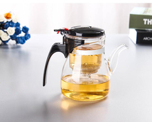 500ml/750mlHeat-resistant glass teapot, Flower Tea Set Puer kettle Coffee Teapot Convenient Office Teaset 1pcs, Kung Fu teapot