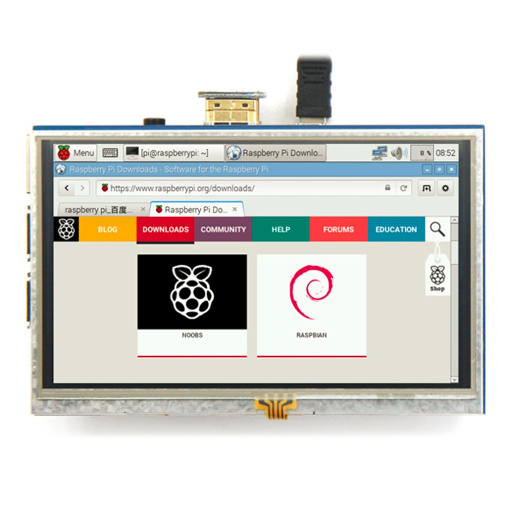 2017 High Quality Hot Selling 5-inch Resistive Touch Screen LCD Display HDMI for Raspberry Pi XPT2046 Hot 3 5 inch touch screen tft lcd 320 480 designed for raspberry pi rpi 2