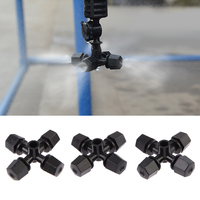 Top Qualtiy 50pcs Lot Greenhouse Humidifier Plant Misting Cross Atomizing Nozzle Sprinkler Free Shipping