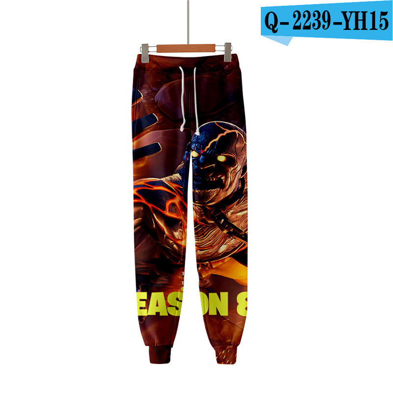 Fortniter 3D Print Pants Men Trousers Games Print Clothings Fortnight Women Clothes Men Game Clothing Battle Royale Clothes Cute
