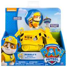 Original Nickelodeon Paw Patrol Rubble's Diggin Bulldozer Spin Master Rescue Vehicle Toy Set Anime Action Figure Toys Kid Gifts spin master nickelodeon paw patrol 16721 спасательный ровер маршалла