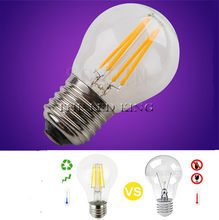 A60 G45 E14 Vintage LED Filament Light Bulb E27 COB Bulbs 6W 12W 18W 24W Filaments 220V 230V Lampada Replace 30W 50W 80W 100W(China)