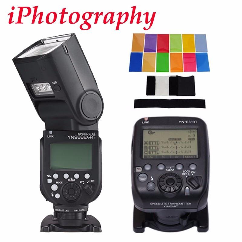 YONGNUO YN968EX-RT LED Wireless Flash Speedlite Master TTL HSS for Canon Camera for Canon 600EX-RT YN-E3-RT YN600EX-RT + Filter yongnuo yn e3 rt ttl radio trigger speedlite transmitter as st e3 rt for canon 600ex rt yongnuo yn600ex rt