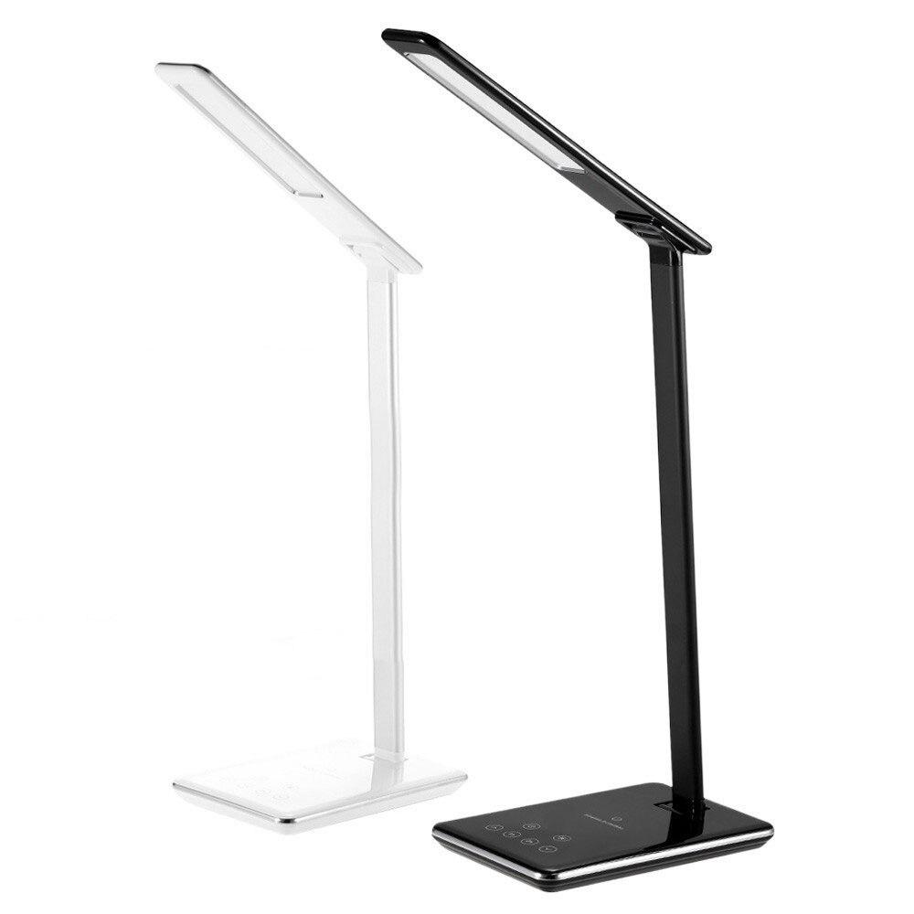 Nouveau LED lampe de bureau lampe de Table pliant oeil-friendly 4 lumière couleur température livre lumière avec chargeur de bureau sans fil USB charge