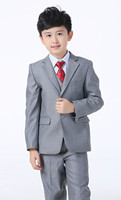 Boys Light Gray Five Piece Wedding Suits For 1 18 Years Children Tuxedo Suits Kids Clothes