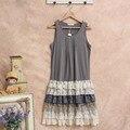 Robe tunique femme harajuku вязание белье платье Мори Шнурка Девушки рюшами лолита хиппи boho богемского женские летние dress