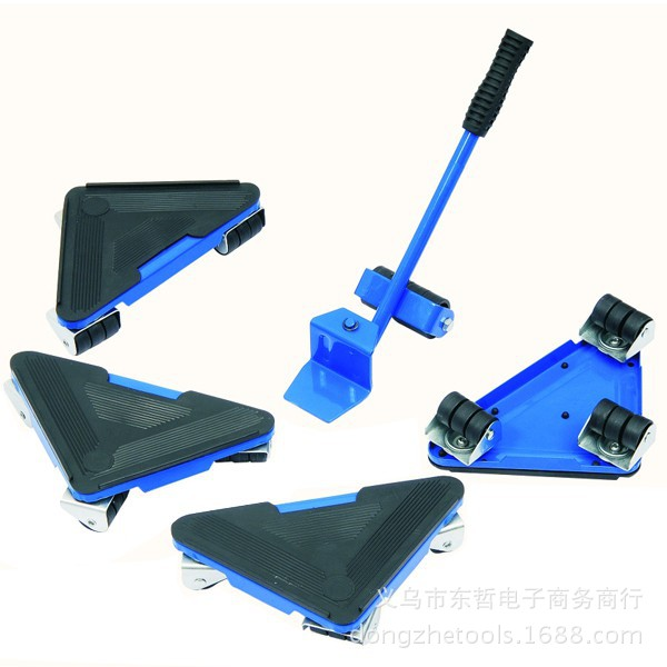 5pc Home Furniture Transport Set Furniture Lifter U0026 Furniture Slides (Mover  Rollers) 4 Wheeled