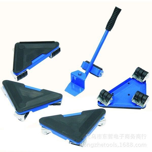 5pc Home Furniture Transport Set Furniture Lifter U0026 Furniture Slides (Mover  Rollers) 4 Wheeled