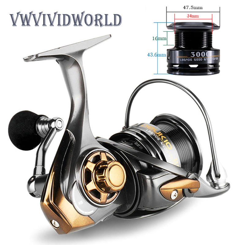 High Quality Double metal Spool fishing reel Carbon shallow deep Cup Lure Spinning Carp Wheel High Speed Ratio 7.1:1 BB Feeder