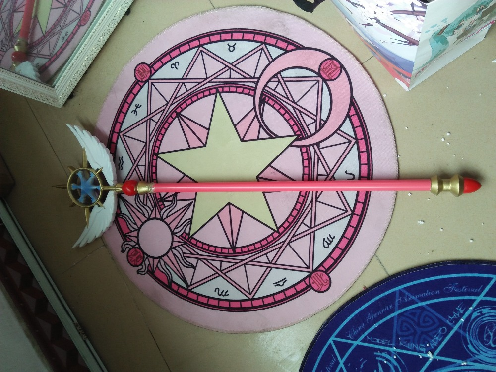 Novelty & Special Use Costume Props 2019 New Style Card Captor Sakura Kinomoto Star Cane Clear Card Cosplay Magic Wand Wing Stick Accessorie Props