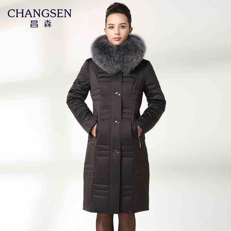 2015 New Hot Thicken Warm Woman Down jacket Coat Parkas Outerwear Hooded Fox Fur collar Luxury High Mid Long Plus Size 4XXXXL