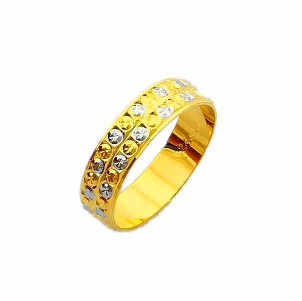 Nouveauté!! Mode 24k GP couleur or hommes et femmes bijoux bague en or jaune or anneau de doigt vente chaude YHDR003