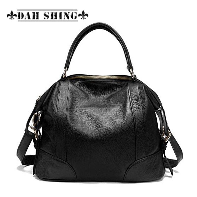 Fashion 2017 Spring 100 Guaranteed Full grain font b women s b font genuine Leather handbag
