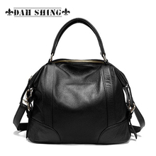 Fashion 2017 Spring 100 Guaranteed Full grain women s genuine Leather handbag patchwork ladies messenger bag
