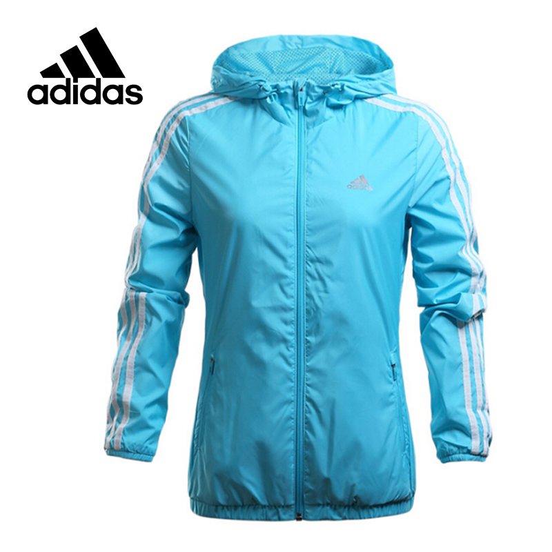 Adidas  Original New Arrival Official Women's Jacket Outdoor Windproof Hooded Training Sportswear AJ1223 adidas new arrival official ess 3s crew men s jacket breathable pullover sportswear bq9645