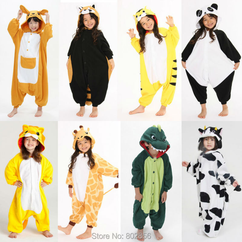 55e4dbd25ec2 Best Quality Unisex Fleece Kids Animal Onesies Cute Cosplay Costume Onesies  Pyjamas Pijamas For Children on Aliexpress.com