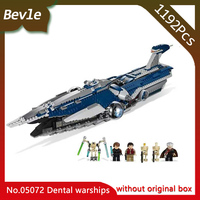 Bevle Store Lepin 05072 1192Pcs Star Wars Series Republic Cruiser Model Building Blocks Set Bricks Toys