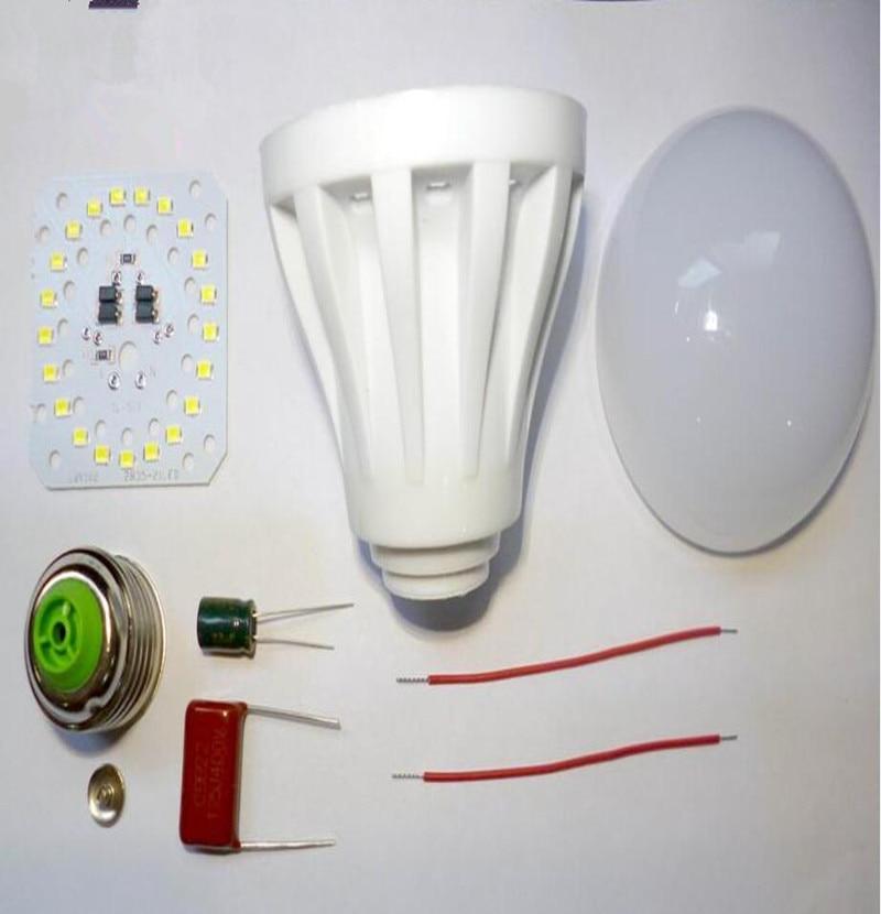 DIY 7W 2835SMD LED Bulb Kit Housing Component Parts ...