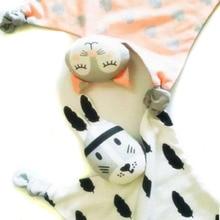 0-12 Месяц Милая Форма Мыши Детские Ткань Игрушки Кровать Спать животное Детские Игрушки Детские Творческие Мягкие Плюшевые Кроватки Мультфильм Погремушка подарок
