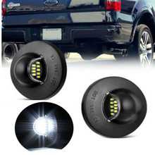 2PCS License Plate Light White LED Car Number Lamp Assemly For Ford F-150 F-250 F-350 F-450 F-550 Superduty Heritage
