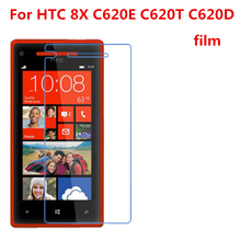 5 Pcs Ultra Thin Clear HD LCD Screen Guard Protector Film With Cleaning Cloth For HTC 8X C620E C620T C620D. цена