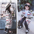 New 2016 Kids Autumn Sweater Girls Knitted Sweater Fashion Girl Striped Sweaters Children Long Sleeve Casual Clothes Sweater