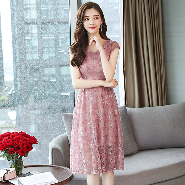 dae221634b Buy dress pink summer and get free shipping | bestseller.mx.tl