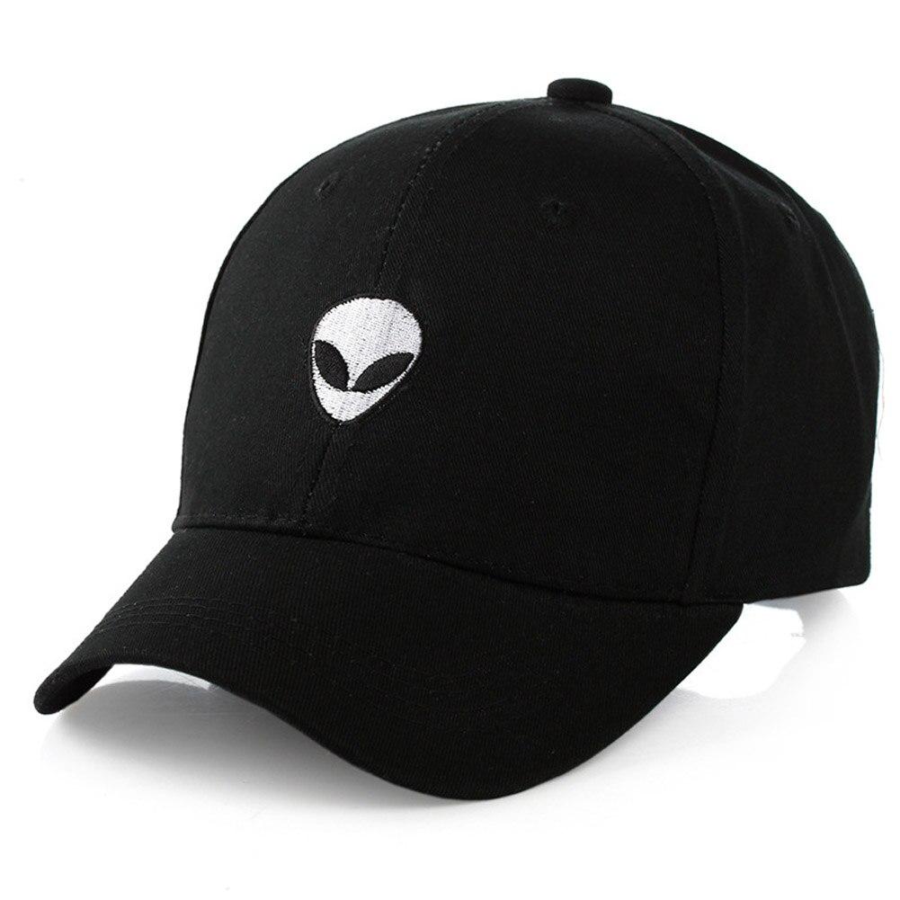2017 Baseball Cap Black Embroidered Alien Pattern Cap ...