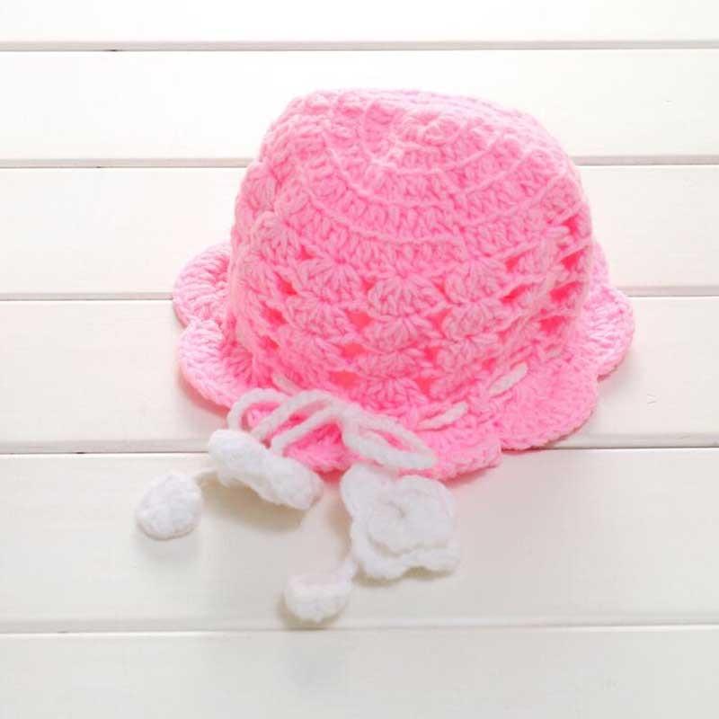 2017 New Baby girls Winter Warm Crochet Knit Hat Beanie Cap Baby Photo Props Boy Girl hats 6-30 months free shipping hot winter beanie knit crochet ski hat plicate baggy oversized slouch unisex cap