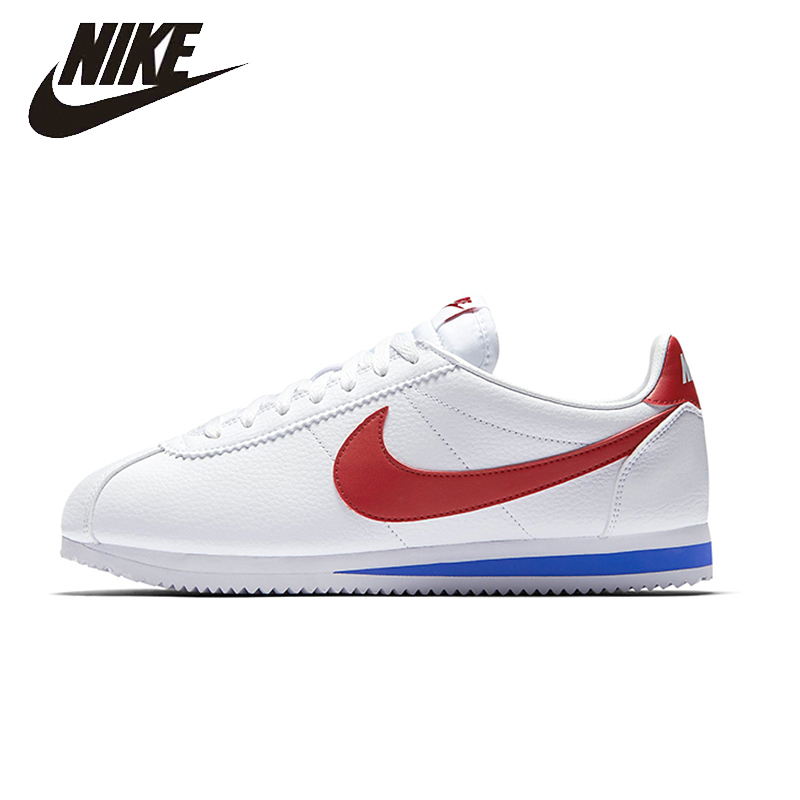 NIKE Original CLASSIC CORTEZ Mens Running Shoes Breathable Stability Street All Season Sneakers For Men Shoes#749571-154 nike original new arrival mens kaishi 2 0 running shoes breathable quick dry lightweight sneakers for men shoes 833411 876875