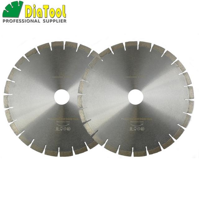 "DIATOOL 2pcs 14"" Diamond Silent Saw Blade Sandwich Steel Core Cutting Disc Bore 50mm Granite Blade Diamond Wheel Disk"