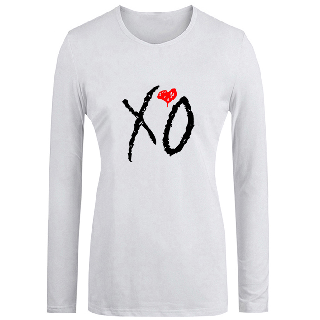 XO The Weeknd Drake OVOXO Fashion Long T Shirt Women Rock Wu Tang Clan T-shirt Green Day Punk Band Girl's Tshirt Streetwear Tops