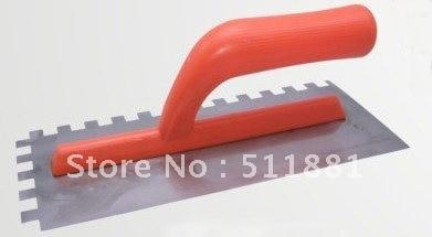 NCCTEC Square Notch Trowel 10mm X 10mm Teeth 12'' Long Plastic Soft Grip