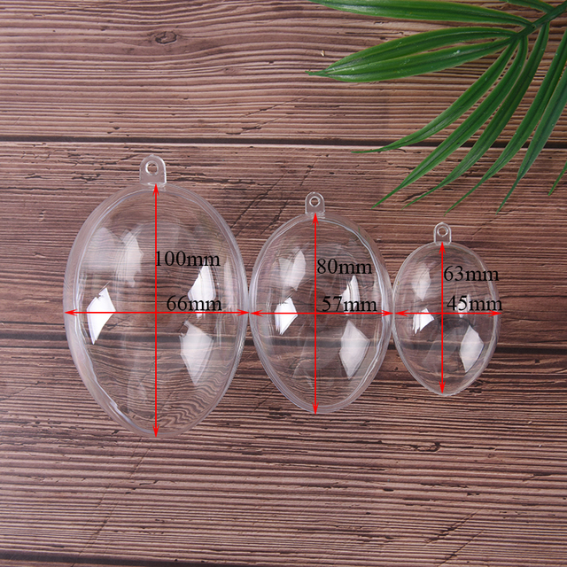 3Sizes Eggs Shape Crafting Home Hotel Decor For Christmas Gift Bath Care Tool DIY Bath Bomb Mold Plastic Clear Mould Reusable 5