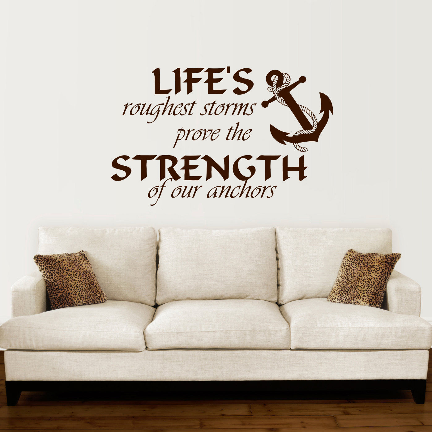 Anchor Wall Decal Quotes Nautical Sayings Wall Vinyl Sticker Bedroom Decor DIY Self adhesive