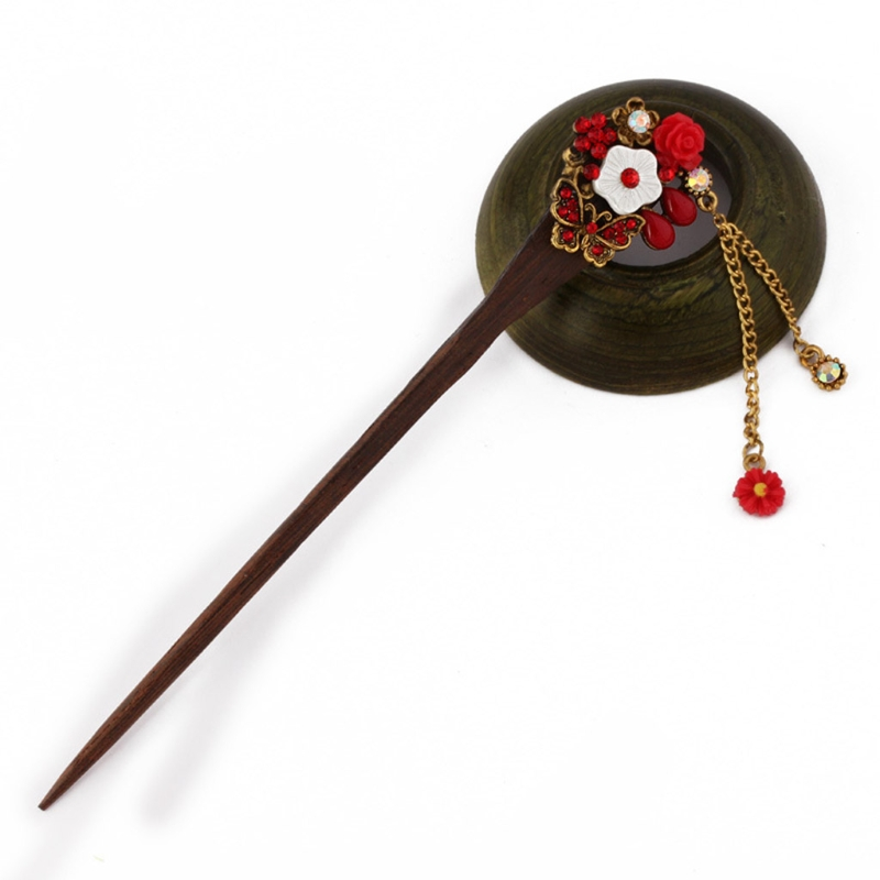 Retro Traditional Wooden Hairpin 3